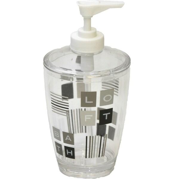 Evideco Clear Acrylic Soap Dispenser Lotion Pump Design Peace and Loft