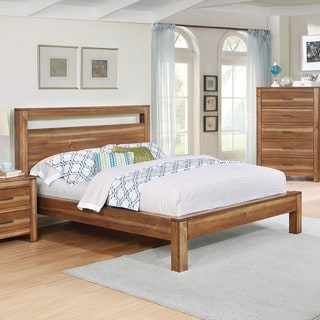 Nicolas Brown Acacia Wood 3-piece Bedroom Set