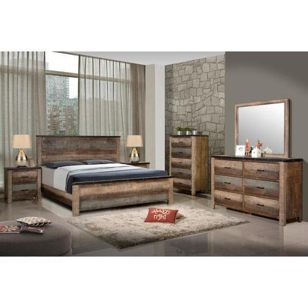 Seneca Antique Brown Asian Hardwood 6-piece Bedroom Set