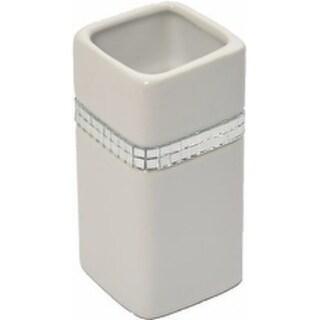 Evideco Stoneware Bath Tumbler Solid White