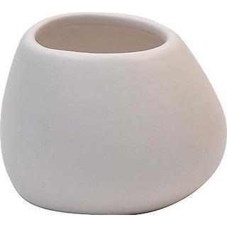 Evideco Stoneware Bath Tumbler Design Matt White