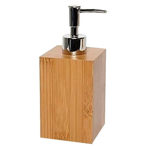 Evideco Ecobio Square Bamboo Soap and Lotion Dispenser Color Brown