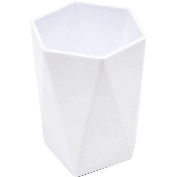 Evideco Vanity Bath Tumbler Cup Design HEXAGONAL Solid Colors