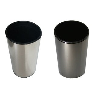 Evideco Stainless Steel Bath Tumbler Cup Design GRAPHITE Shiny