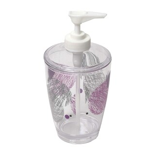 Evideco Clear Acrylic Soap Dispenser Lotion Pump Design VALENTINE