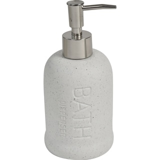 Evideco Stoneware Bathroom Soap Dispenser BATH Sand Stone Effect