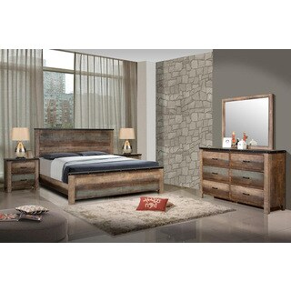 Seneca Antique Brown Asian Hardwood 4-piece Bedroom Set (3 options available)