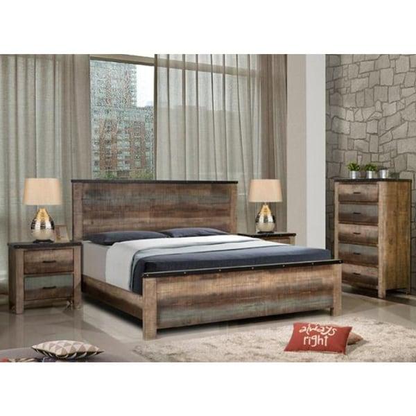 Bon Seneca Asian Hardwood 3 Piece Bedroom Set