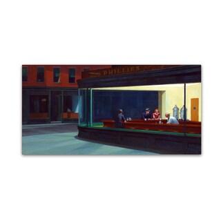 Edward Hopper 'Nighthawks' Canvas Art