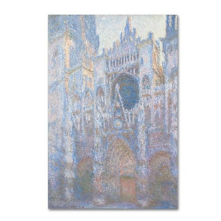 Claude Monet 'Rouen Cathedral West Facade 1894' Canvas Art