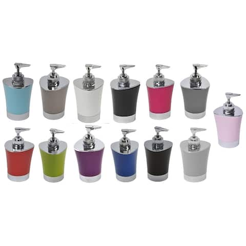 Evideco Bath Soap and Lotion Dispenser Shiny Color Chrome Parts
