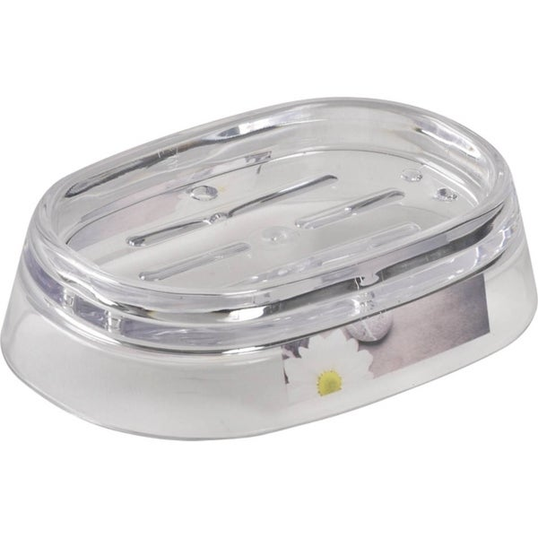 Evideco Clear Acrylic Soap Dish Cup Design Zen Garden
