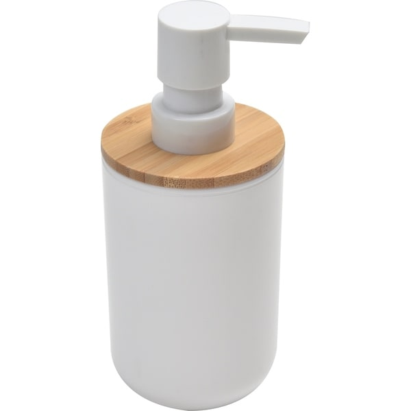 Evideco Soap Lotion Pump Dispenser Padang White - Bamboo Top