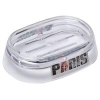 Evideco Clear Acrylic Soap Dish Cup Design Paris City