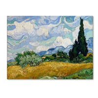 Vincent van Gogh 'Yellow Wheat and Cypresses' Canvas Art