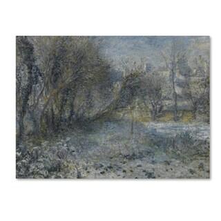 Pierre Renoir 'Snowy Landscape' Canvas Art