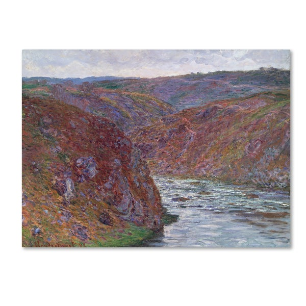 Claude Monet 'Ravines of the Creuse' Canvas Art