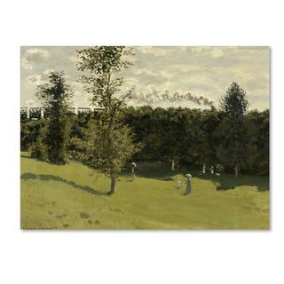 Claude Monet 'Train in the Country, 1870-71' Canvas Art