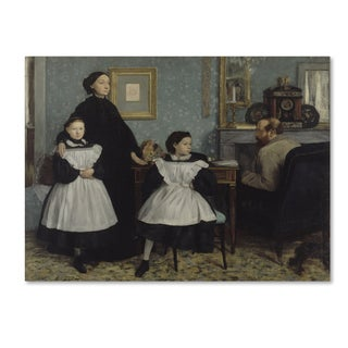 Edgar Degas 'The Bellelli Family, 1858-67' Canvas Art