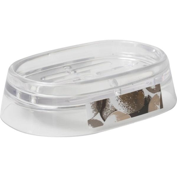 Evideco Clear Acrylic Soap Dish Cup Design Spa