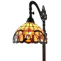 Amora Lighting AM272FL11 62-inch Tiffany-Style Victorian Reading Floor Lamp