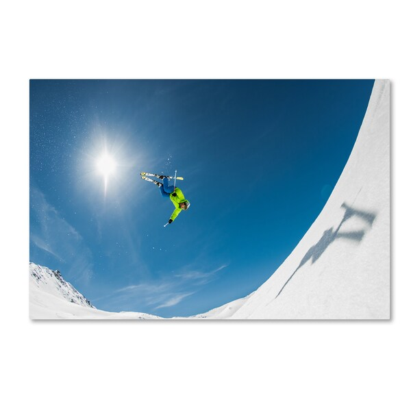 Eric Verbiest 'Backcountry Backflip' Canvas Art