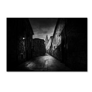 Jose C Lobato 'A Street In Salamanca' Canvas Art
