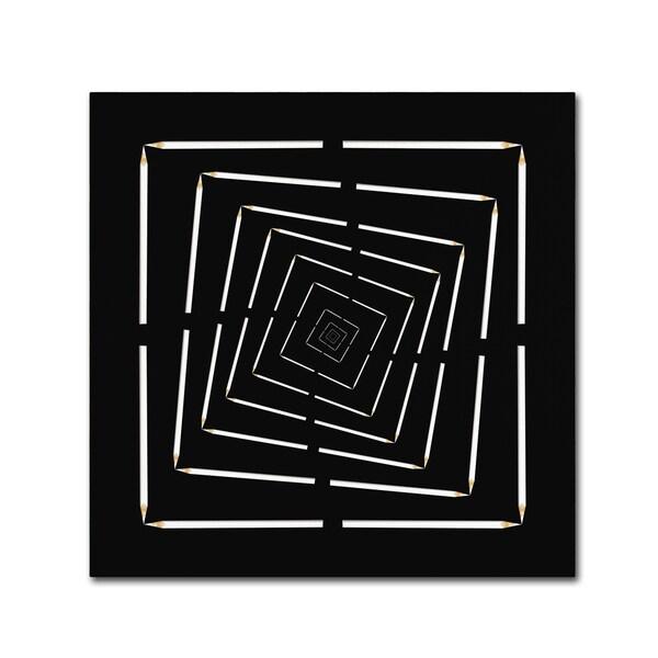 Udo Dittmann 'Pencil Infinity' Canvas Art