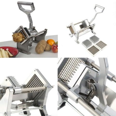 Steel +Aluminum Potato French Fry Fruit Vegetable Cutter Slicer Stainless