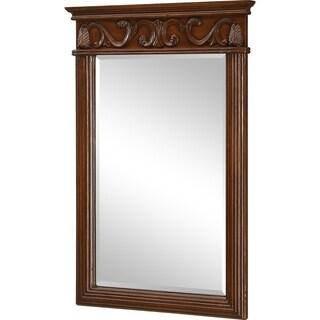 """Roman 25"""" Teak Mirror"""
