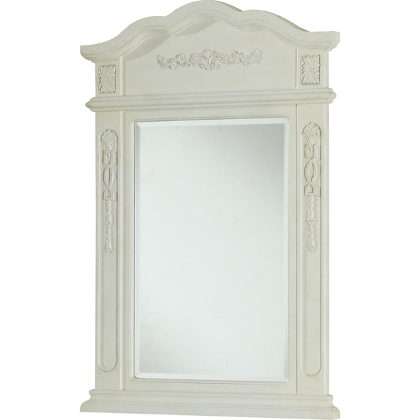 "Milan 24"" Antique White Mirror"