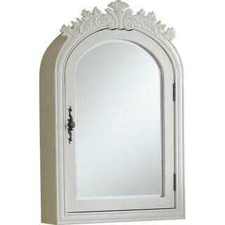 "Wellington 21"" Antique Mirror - Antique White"