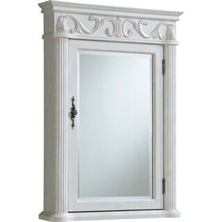 "Roman 25"" Antique White Medicine Cabinet - Antique White"