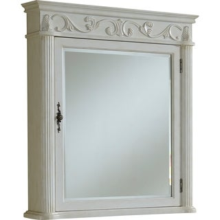 "Roman 32"" Antique White Medicine Cabinet - Antique White"