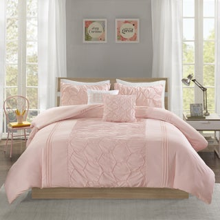 Intelligent Design Shayda Blush 5-piece Duvet Cover Set