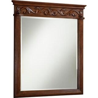 """Roman 32"""" Teak Mirror"""