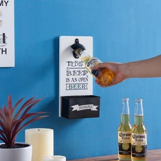 Danya B. Hanging Beer Opener and Cap Holder|https://ak1.ostkcdn.com/images/products/17027995/P23306544.jpg?impolicy=medium