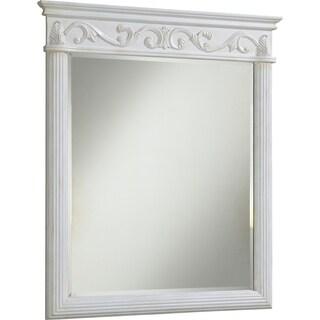 """Roman 32"""" Antique White Mirror - Antique White"""