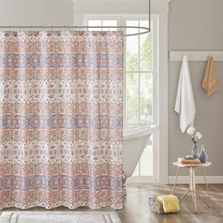 Intelligent Design Mae Global Inspired Grey Printed Shower Curtain