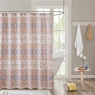 Intelligent Design Mae Global Inspired Grey Printed Shower Curtain