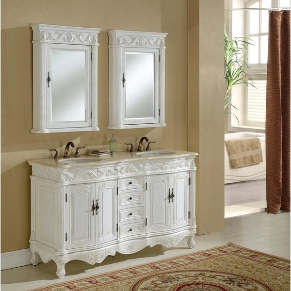 Heritage Roman Antique White Vanity