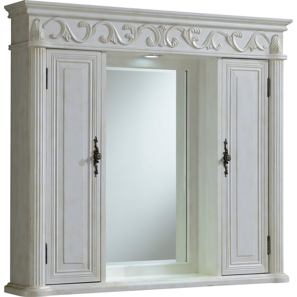 "Roman 42"" Antique White Medicine Cabinet - Antique White"
