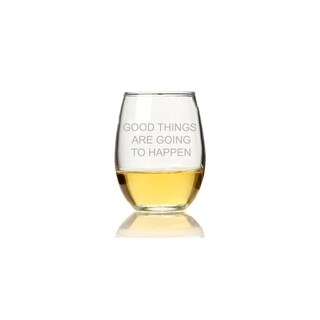 Good Things Are Going To Happen Stemless Wine Glass (Set of 4)