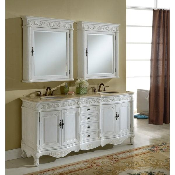 Heritage Roman Antique White Bathroom Vanity - Heritage Roman Antique White Bathroom Vanity - Free Shipping Today
