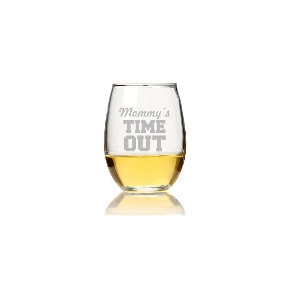 Madison Mommy's Time Out Stemless Wine Glass (Set of 4), ...