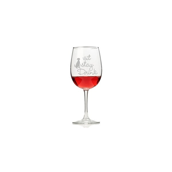 Sit Stay Drink Wine Glasses (Set of 4)