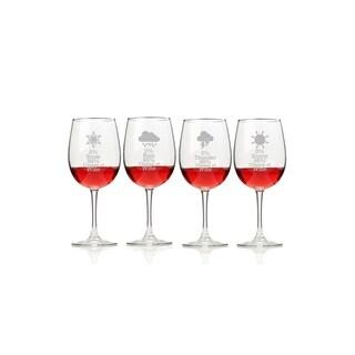 Wine Forecast Wine Glasses (Set of 4)