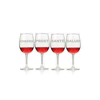 Cheers Wine Glasses (Set of 4)
