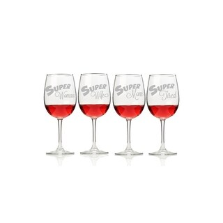 My Super Woman Wine Glasses (Set of 4)
