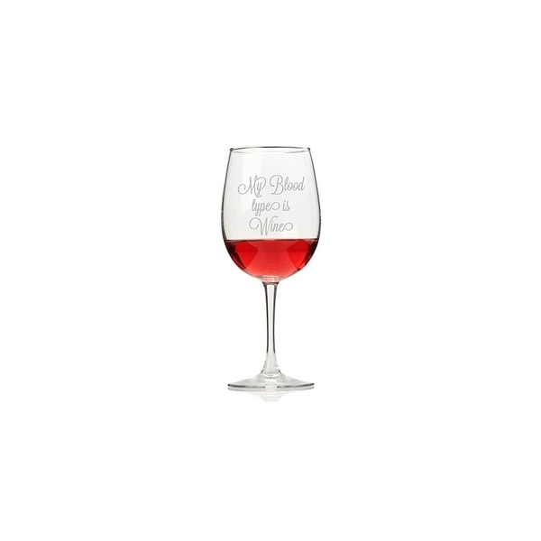 My Blood Type is Wine Wine Glasses (Set of 4)